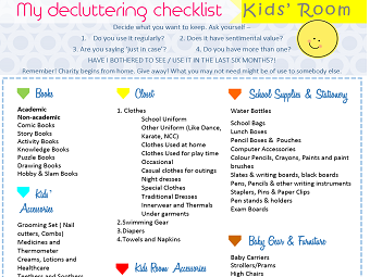 Bowerspace Kids' Room Decluttering Checklist